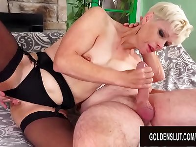 Smoking Hot Blonde Mature Erica Ryko Deepthroats and Rides