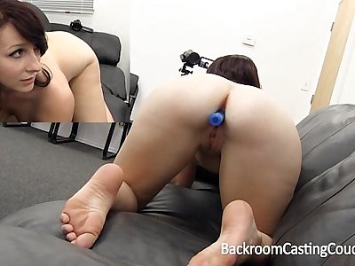 Girl Next Aria Ass Fucked & Creampie on Casting Couch