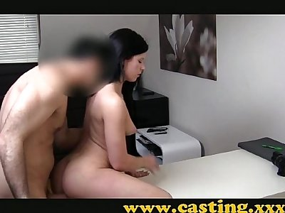 Casting - Creampie and a slap