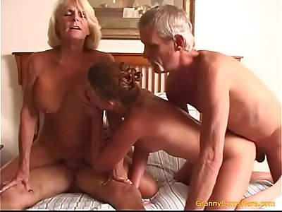 Teen fucks her Grand Parents