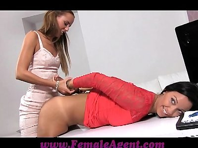 FemaleAgent Handcuffed spanked and fucked