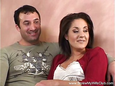 Brunette Swinger MILF Fucks New Man