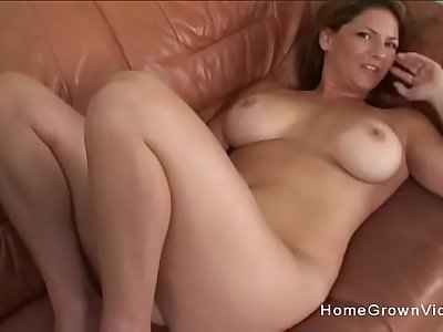 Hot big tit mom sucks and fucks her sons friend